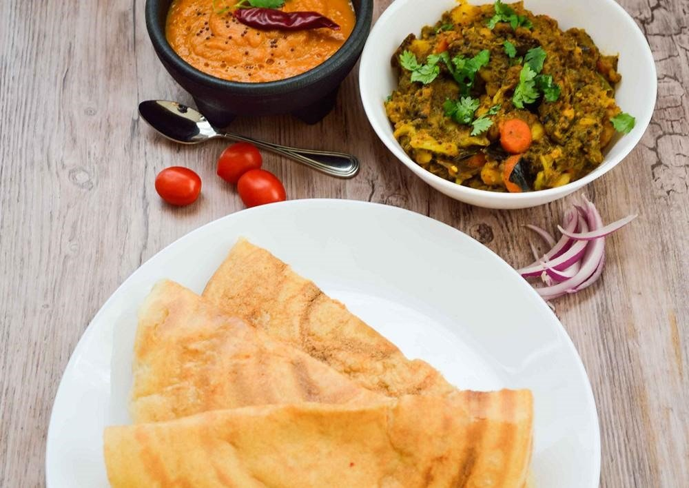 Instant Wheat dosa - Guest post by Sophie Goel - Cooking with Smile