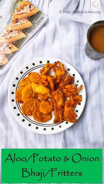 Aloo/Potato & Onion Bhaji /Fritters - Cooking with Smile
